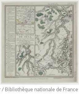 Plan de la Bataille de Jena, Gagnée par la Grande Armée Française commandée par l