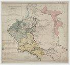 Carte de l'ancien Royaume de Pologne partagé entre la Russie, la Prusse et l'Autriche par les traités de 1772 et 1795, contenant aussi le Grand-Duché de Varsovie  1810