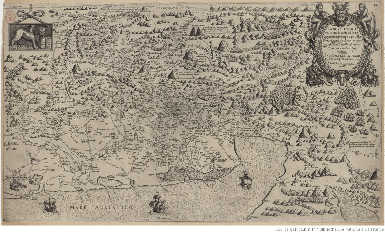 La nova descrittione di tutta la patria del Friuli diligentissimamente esposta per M. Pyrrho Ligorio Napolitano