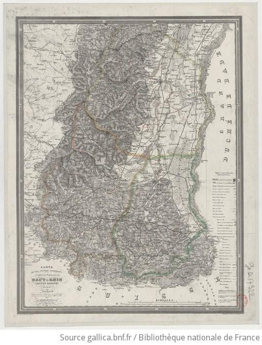 Carte Haute Alsace.Carte Physique Statistique Administrative Et Routiere Du