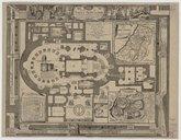 Plan du Saint Sepulchre de nôtre seigneur Jésus-Christ situé en la terre sainte sur le Mont calvaire dans la cité de Jerusalem  N. de Fer. 1715