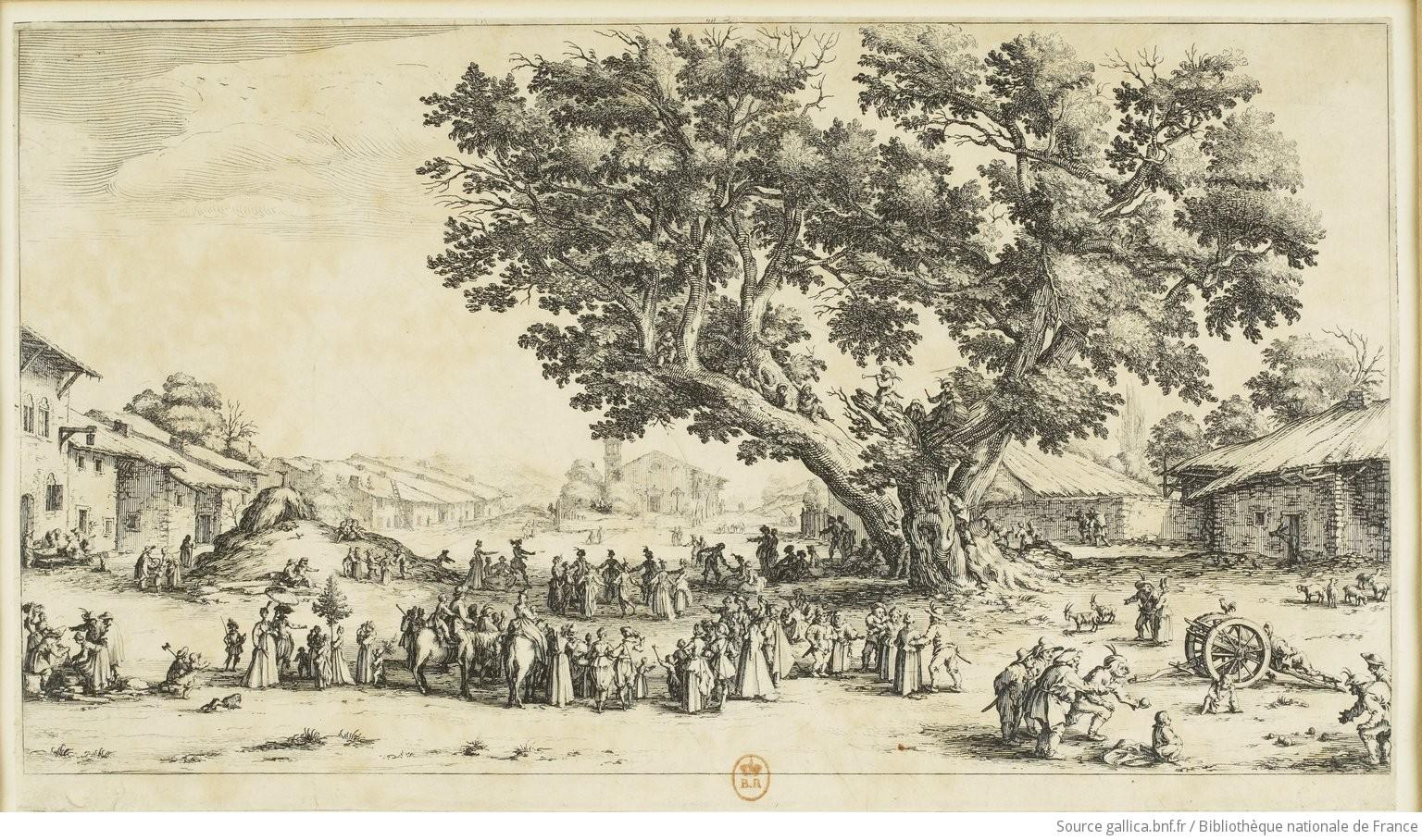 [La foire de Gondreville] : [estampe] ([1er état]) / [Jacques Callot] - 1