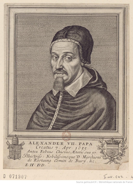 Alexander VII. Papa Z: H: D D