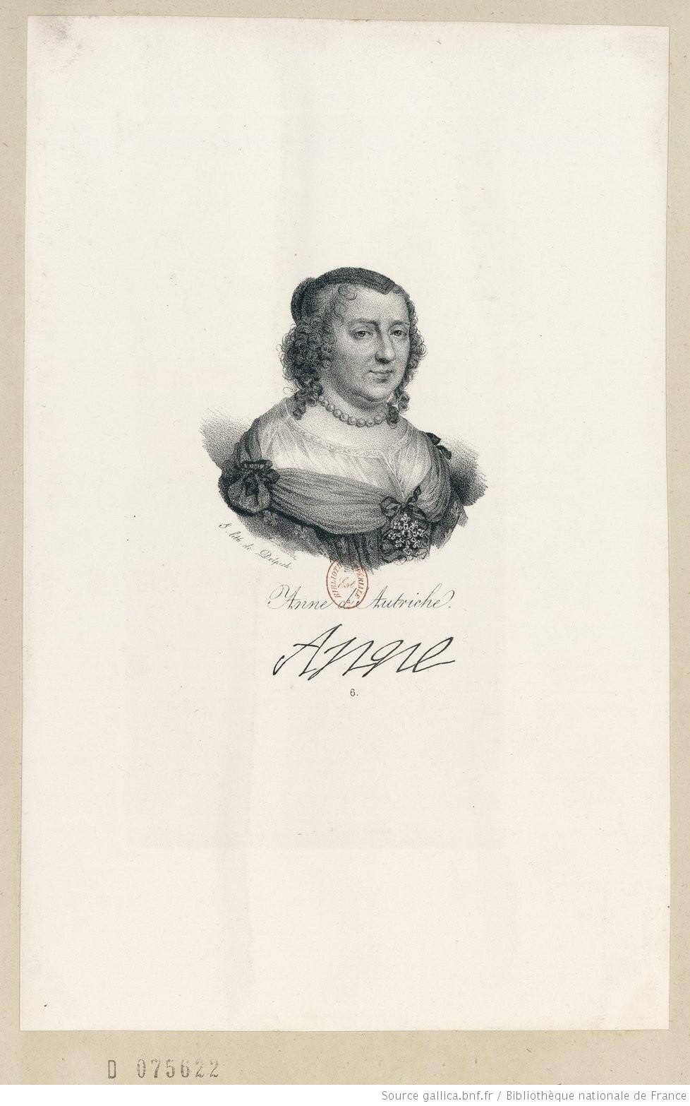 Anne d'Autriche Anne J. lith. de Delpech.