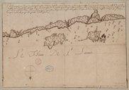Demonstration d'une Partye de la Coste du Sud du fleuve St Laurent en Canada Chamot. 1668
