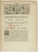 Ordonnance concernant les déposts qui se font dans les chancelleries des consulats de Levant et de Barbarie  Louis XV. 1731