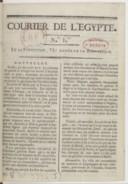 Le Cour(r)ier de l'Égypte. 1798-1801