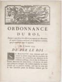 Ordonnance portant ce qui devra être observé par rapport aux Maronites et autres chrétiens orientaux et aux esclaves rachetés qui se trouveront dans le Royaume  Louis XV. 1753