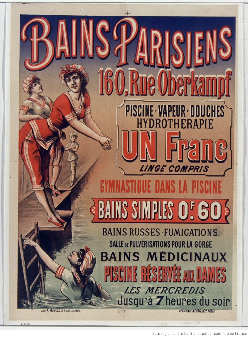 Salle De Bain Bicarbonate Vinaigre ~ Bains Parisiens 160 Rue Oberkampf Piscine Vapeur Douches