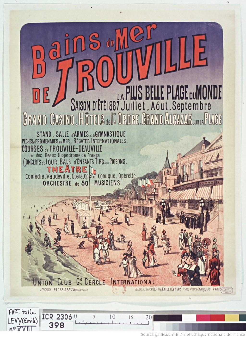 Póster anunciando la estación balnearia de Trouville (1887),