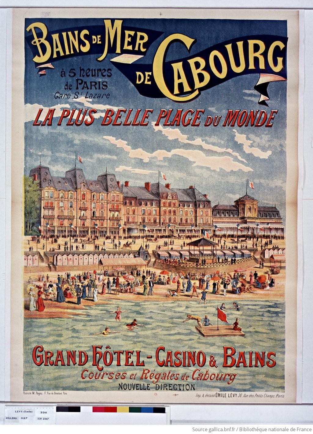 Póster anunciando la estación balnearia de Cabourg (1892),