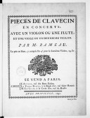 Bildung aus Gallica über Pièces de clavecin en concerts. RCT 7-11