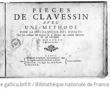 PIÈCES DE CLAVECIN AVEC UNE MÉTHODE POUR LA MÉCANIQUE DES DOIGTS - Première édition - 1724