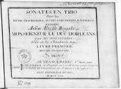 Bildung aus Gallica über Sonates en trio. Dessus (2), basse continue. Op. 3
