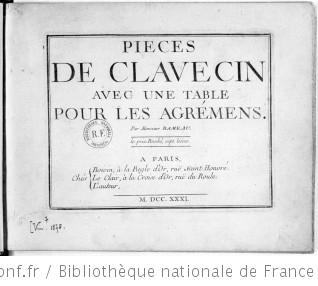 PIÈCES DE CLAVECIN AVEC UNE MÉTHODE POUR LA MÉCANIQUE DES DOIGTS - Sixième édition - 1731 [après février 1761] Ex. 1