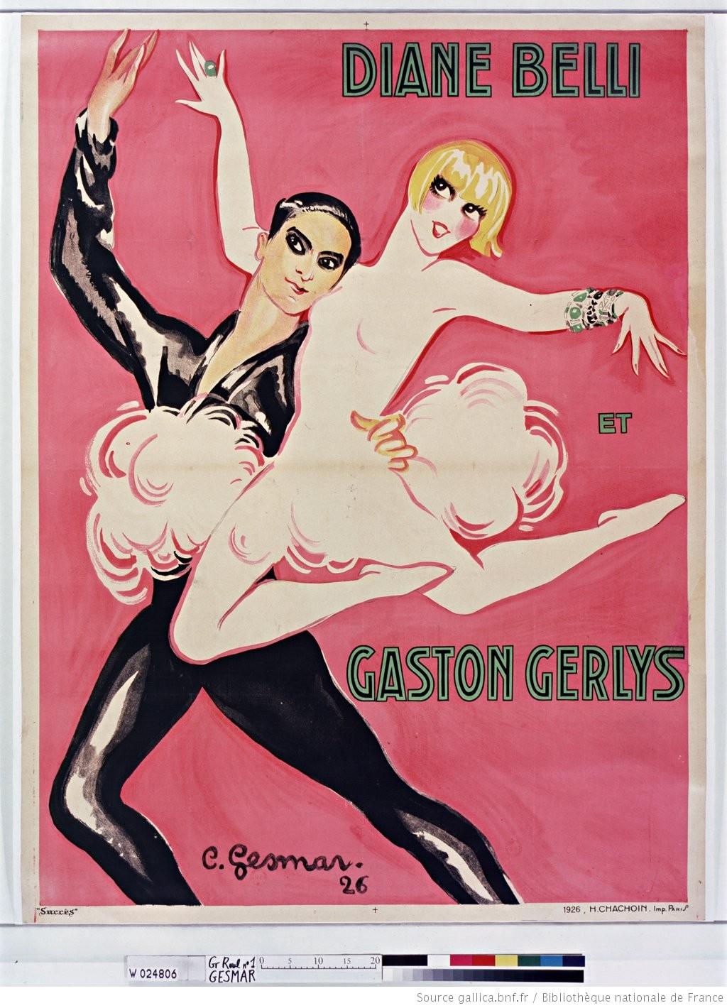 Diane Belli et Gaston Gerlys : [affiche] / [C. Gesmar]