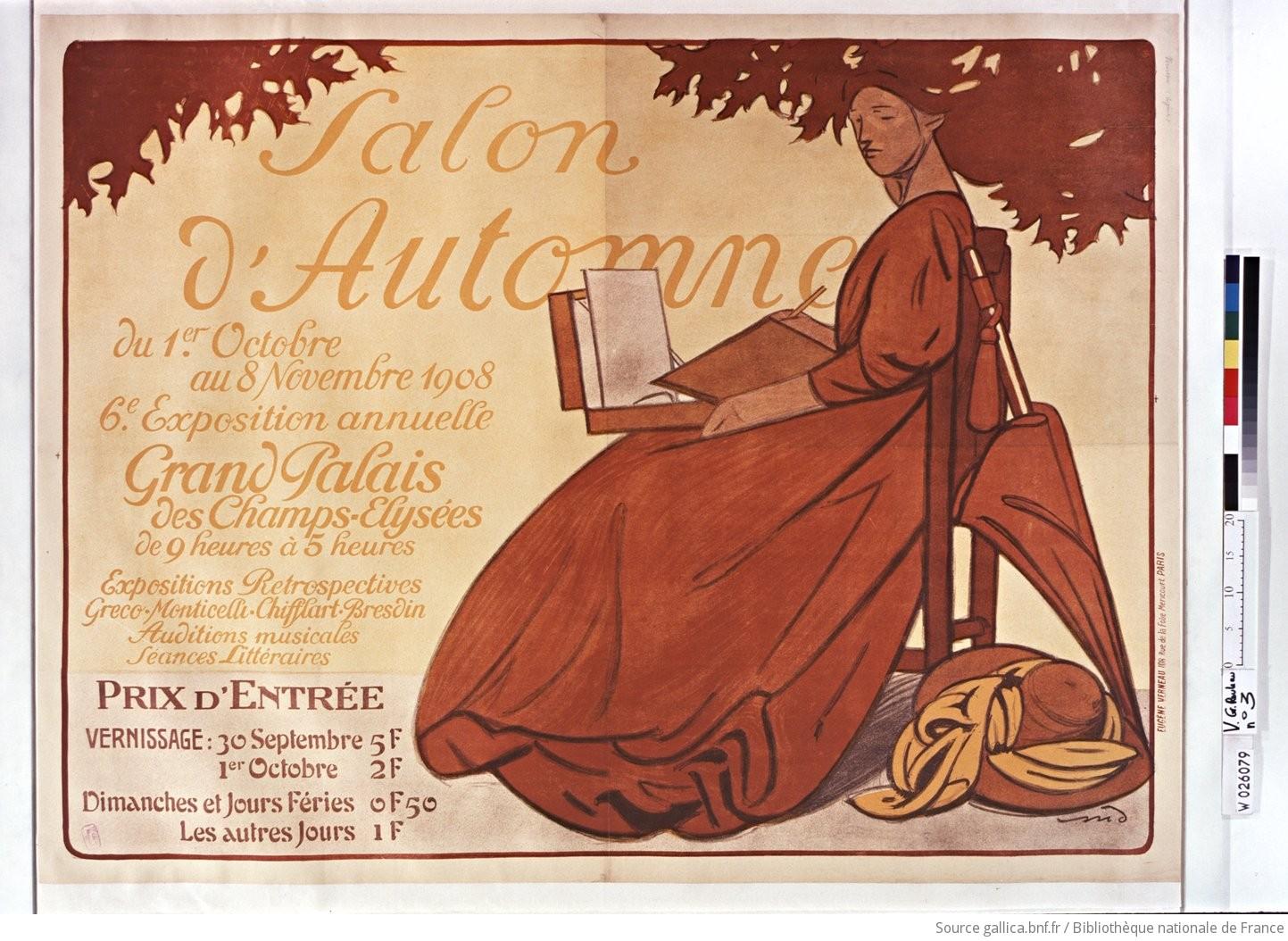 Salon d 39 automne du 1er octobre au 8 novembre 1908 6 me for Salon de coiffure afro champs elysees
