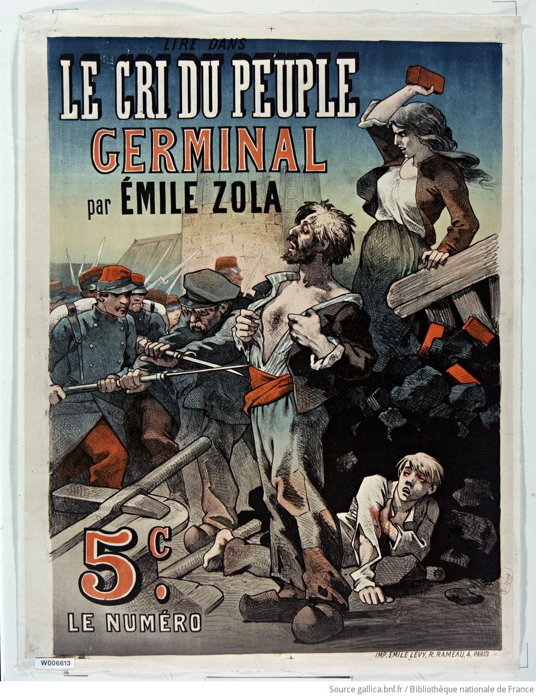 Annonce de la publication de Germinal en 1885 dans le cri du peuple