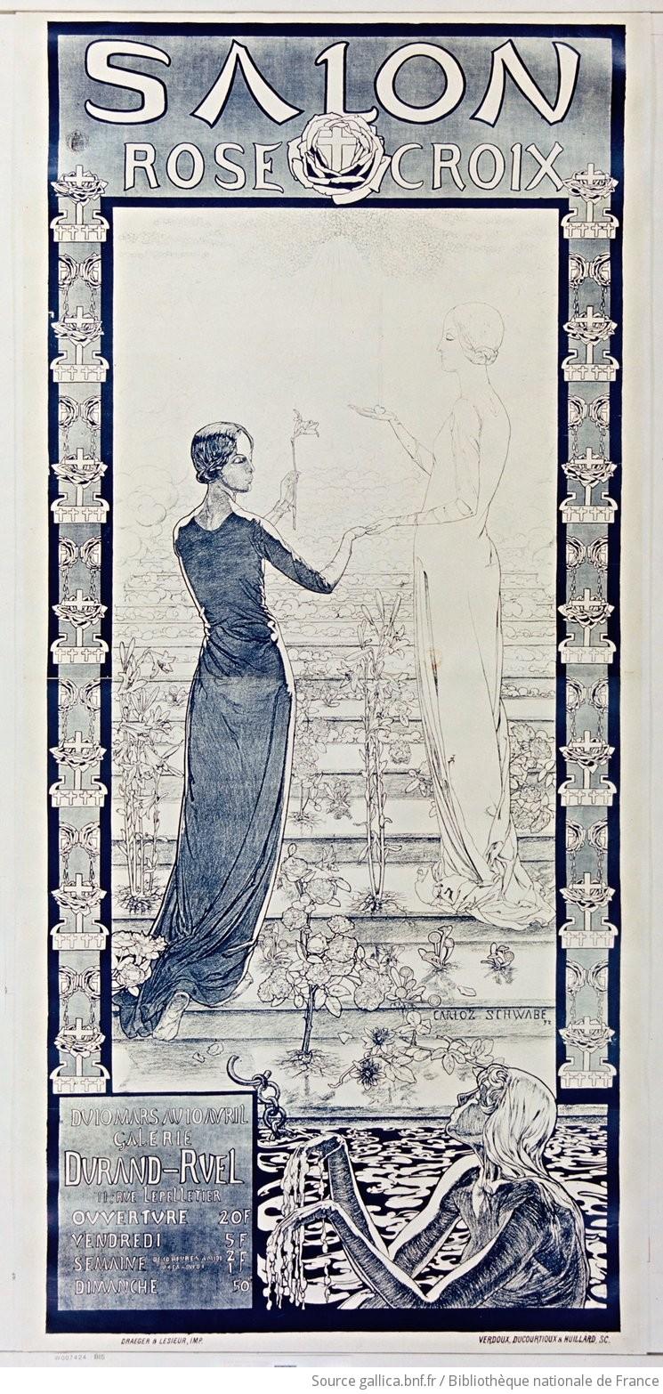 Carlos Schwabe, Affiche pour le Salon Rose Croix, 1892