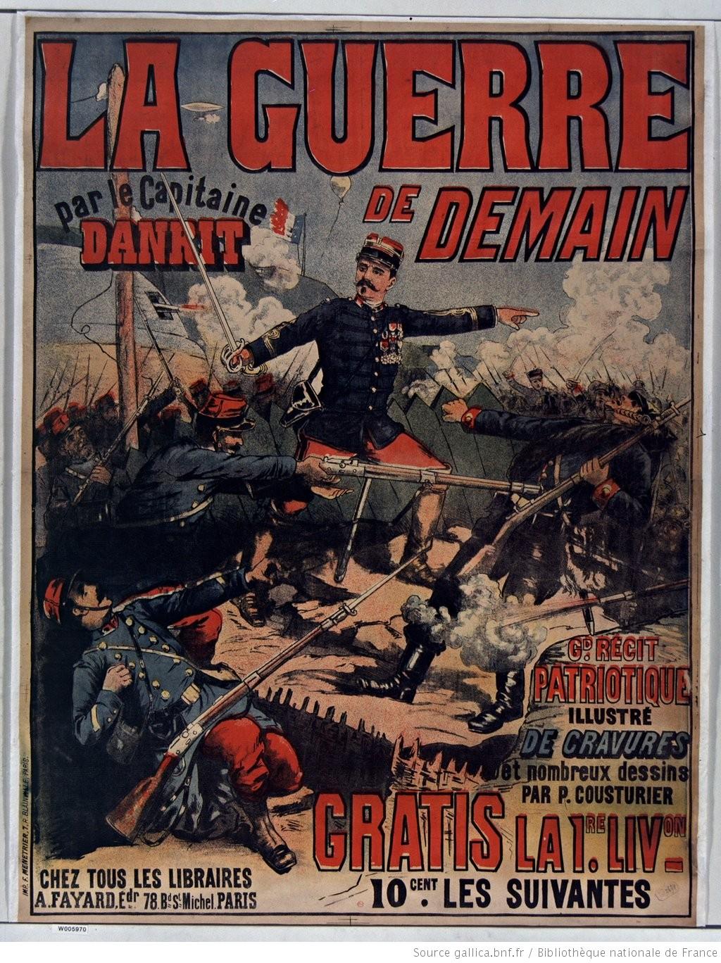 La Guerre de demain par le Capitaine Danrit... : [affiche] / [non identifié] - 1