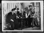 Les acteurs de Versailles : Clémenceau, Lord Balfour, Llyod George, Wilson, Paderewski, Foch  1922