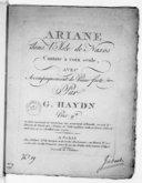 Image from Gallica about Arianna a Naxos. Hob XXVIb 2