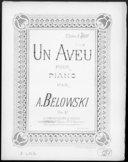 Illustration de la page A.  Belowski (compositeur, 18..-19.. ) provenant de Wikipedia
