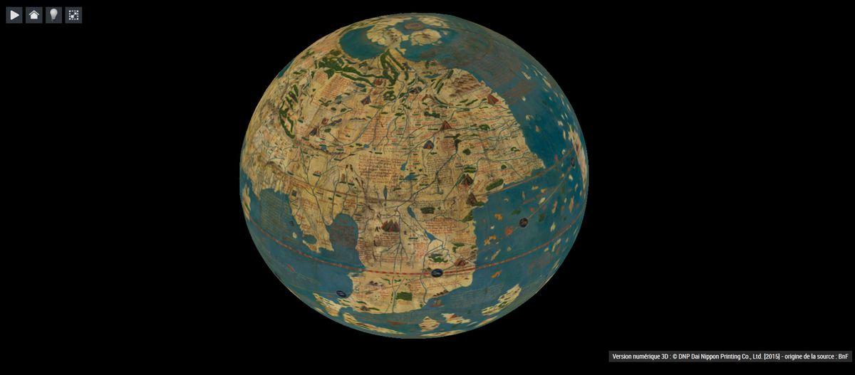Globe de Behaim, Allemagne, 1492 (fac-simile)