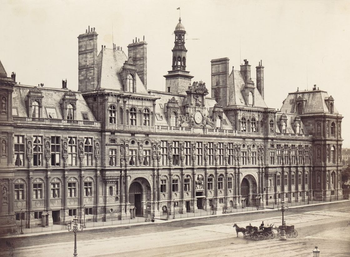 Ancien Hôtel-de-Ville de Paris, Paris IVe. Circa 1865