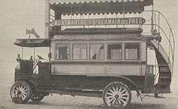 Photographie d'un autobus dans le Génie civil, 1909