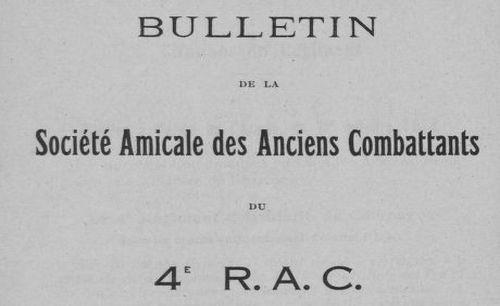 """Accéder à la page """"Bulletin de la Société amicale des anciens combattants et anciens du 4e R.A.C. et 204 R.A.C."""""""
