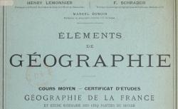 """Accéder à la page """"Sciences géographiques"""""""