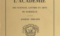 """Accéder à la page """"Académie des sciences, belles-lettres et arts de Marseille"""""""