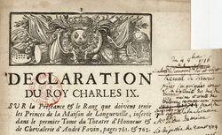 """Accéder à la page """"Actes royaux"""""""