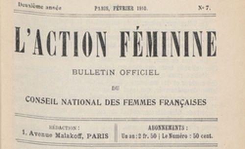 """Accéder à la page """"Action féminine (L')"""""""