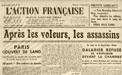 """Accéder à la page """"Action française (L')"""""""
