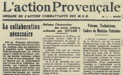 """Accéder à la page """"Action provençale (L')"""""""