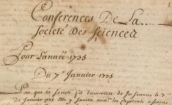 """Accéder à la page """"Registres des délibérations de l'Académie, 1729-1948"""""""
