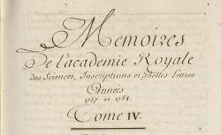 """Accéder à la page """"Registres des Mémoires de l'Académie, 1729-1812"""""""