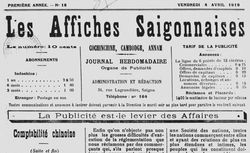 """Accéder à la page """"Affiches saïgonnaises (Les)"""""""