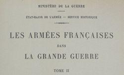 """Accéder à la page """"Les armées françaises dans la Grande Guerre"""""""