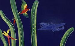 Air France. Antilles Amérique centrale, affiche de Lucien Boucher