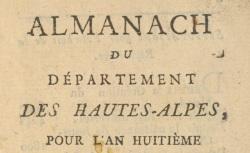 """Accéder à la page """"Almanach des Hautes-Alpes"""""""