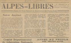 """Accéder à la page """"Alpes libres (les)"""""""