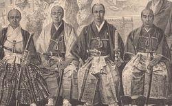 """""""Les ambassadeurs japonais..."""" Le Monde illustré, 26/04/1862. FOL-LC2-2943. p. 264"""