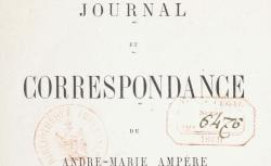 """Accéder à la page """"Ampère, André-Marie, Journal et correspondance"""""""
