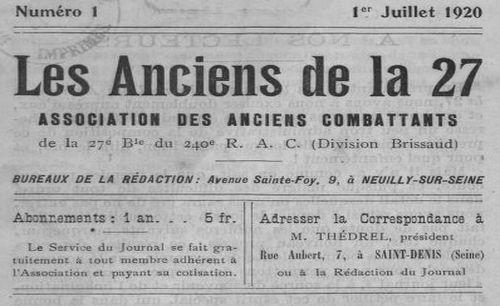"""Accéder à la page """"Anciens de la 27e (Les)"""""""
