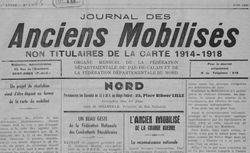 """Accéder à la page """"Journal des Anciens mobilisés non titulaires de la carte 1914-1918"""""""