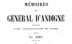 """Accéder à la page """"Andigné, général comte d', Mémoires"""""""
