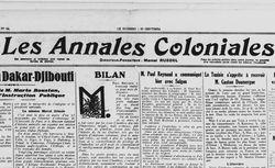 Les Annales coloniales
